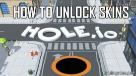 How to unlock skins in Hole.io